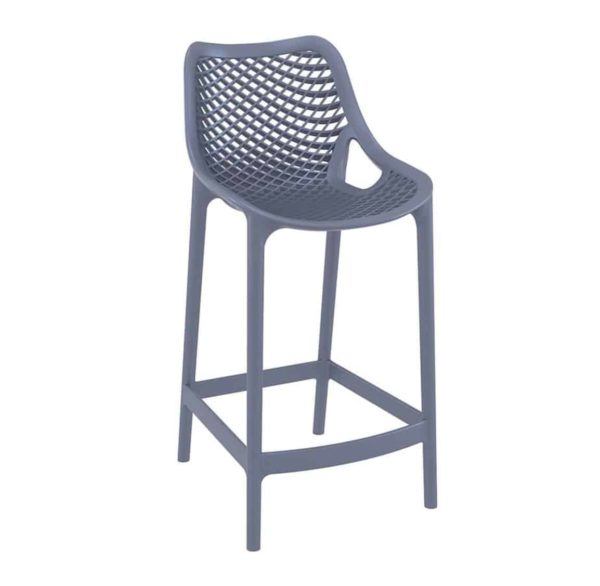 Bruce Stackable Outside Bar Stool DeFrae Contract Furniture Blue