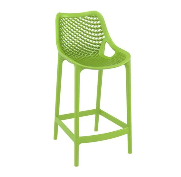 Bruce Stackable Outside Bar Stool DeFrae Contract Furniture Green