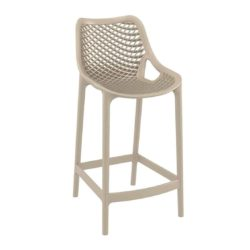 Bruce Stackable Outside Bar Stool DeFrae Contract Furniture Taupe