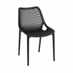 Bruce Stackable Outside Chair DeFrae Contract Furniture Black
