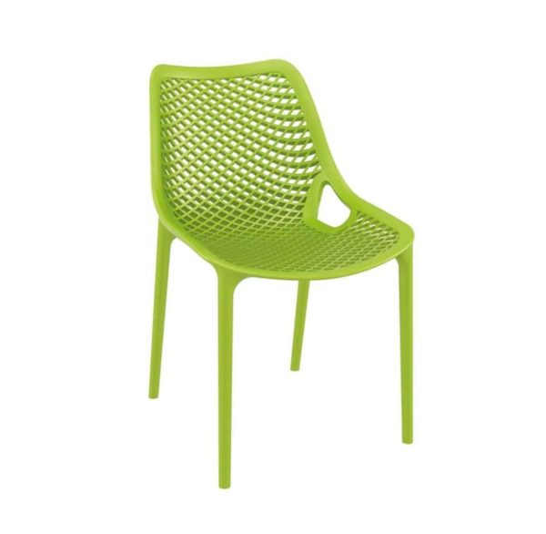 Bruce Stackable Outside Chair DeFrae Contract Furniture Green]