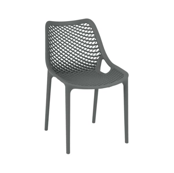 Bruce Stackable Outside Chair DeFrae Contract Furniture Grey