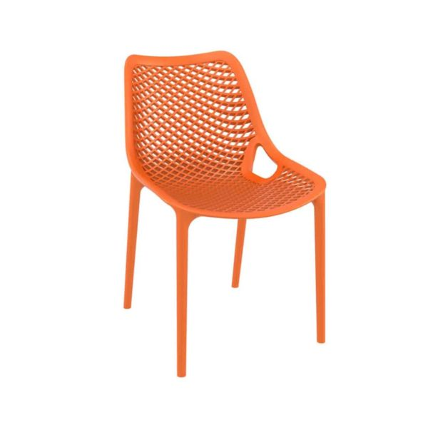 Bruce Stackable Outside Chair DeFrae Contract Furniture Orange