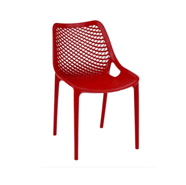 Bruce Stackable Outside Chair DeFrae Contract Furniture Red