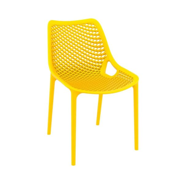 Bruce Stackable Outside Chair DeFrae Contract Furniture Yellow