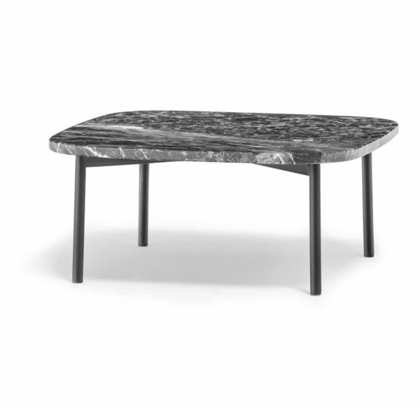 Buddy Marble Table Pedrali DeFrae Contract Furniture Black Marble and Black Legs