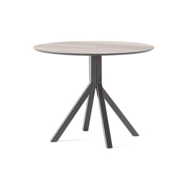 Buzz Table at DeFrae Contract Furniture Grapevine Black Base