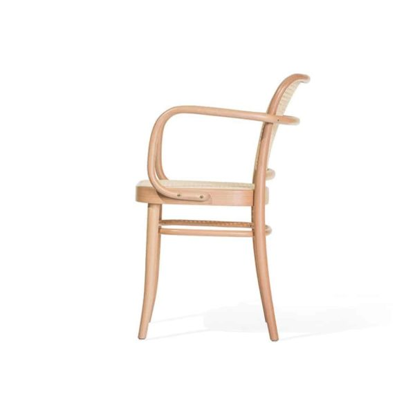 Cane Armchair 811 DeFrae Contract Furniture Ton Side View
