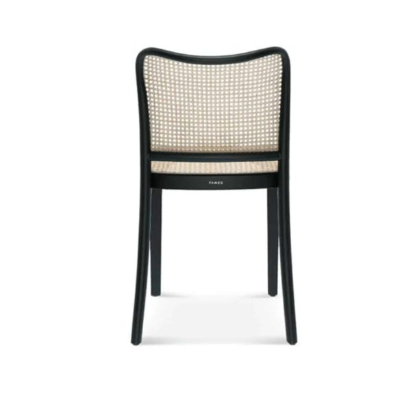 Cane side chair DeFrae Contract Furniture Back View 811 chair