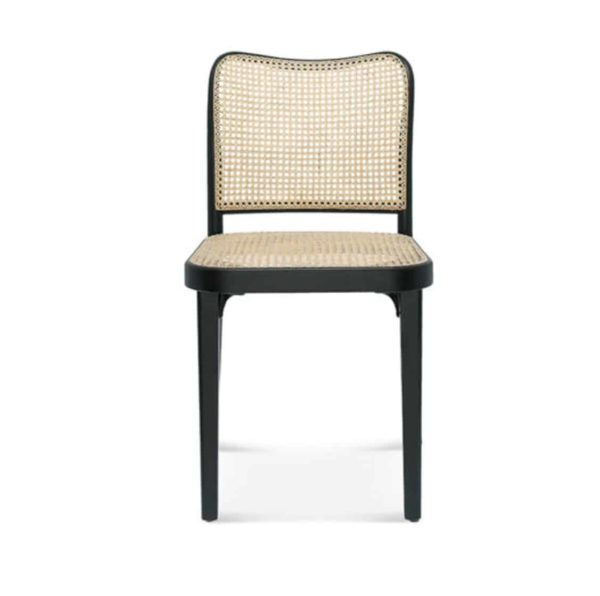Cane side chair DeFrae Contract Furniture Front View 811 chair