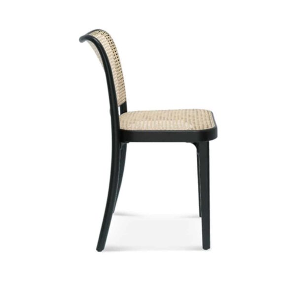 Cane side chair DeFrae Contract Furniture Side View 811 chair
