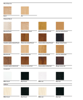 Cantarutti wood stains DeFrae Contract Furniture