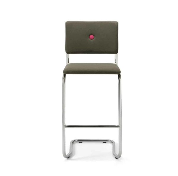 Ceska Bar Stool Cantileve Base DeFrae Contract Furniture Front