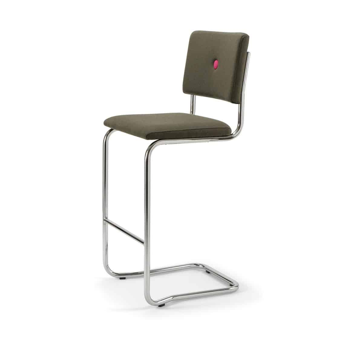 Ceska Bar Stool Cantileve Base DeFrae Contract Furniture