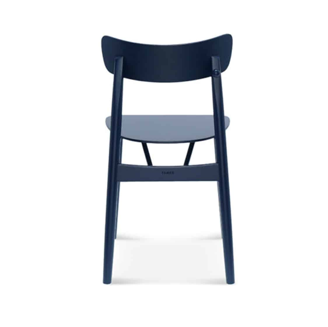 Chance curved back wood restaurant chair DeFrae contract furniture back view