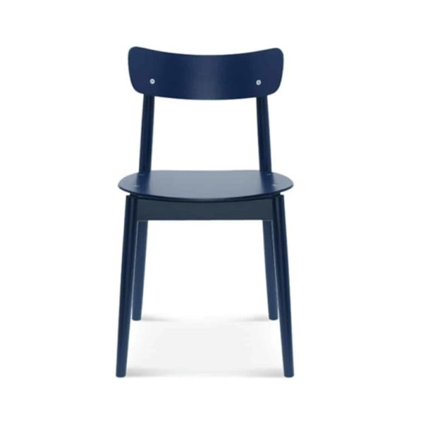 Chance curved back wood restaurant chair DeFrae contract furniture front view