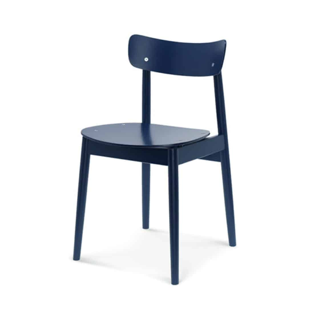 Chance curved back wood restaurant chair DeFrae contract furniture