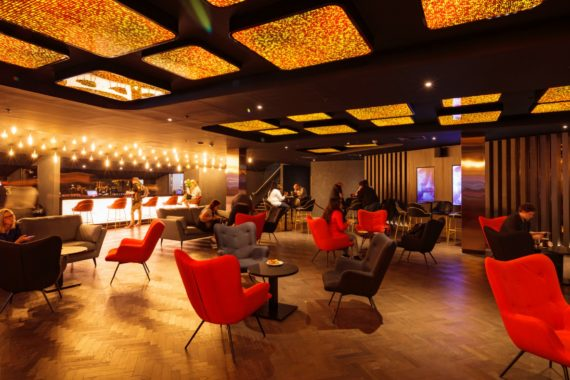 Cineworld VIP Experience at the 02 contract restaurant bar furniture by DeFrae