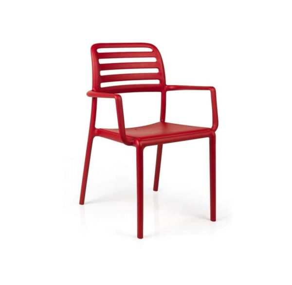 Coast Armchair Nardi Costa DeFrae Contract Furniture Red