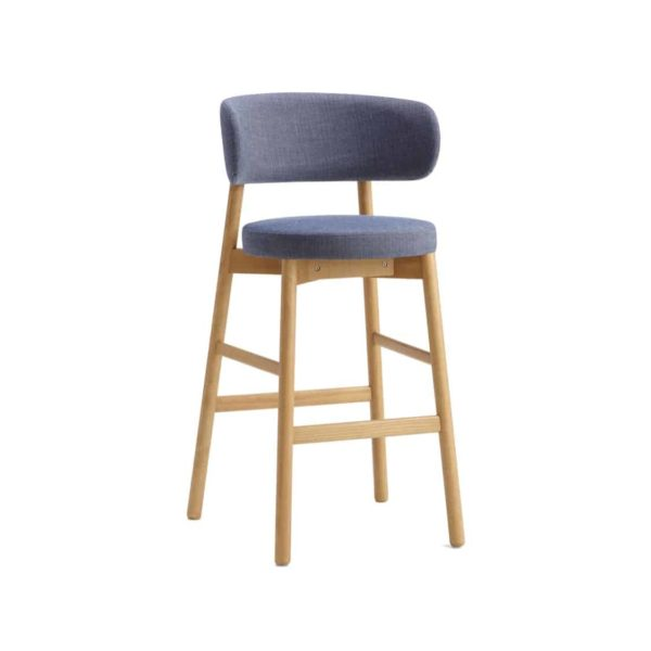 Coco Bar Stool With Curved Back DeFrae Contract Furniture Cantarutti
