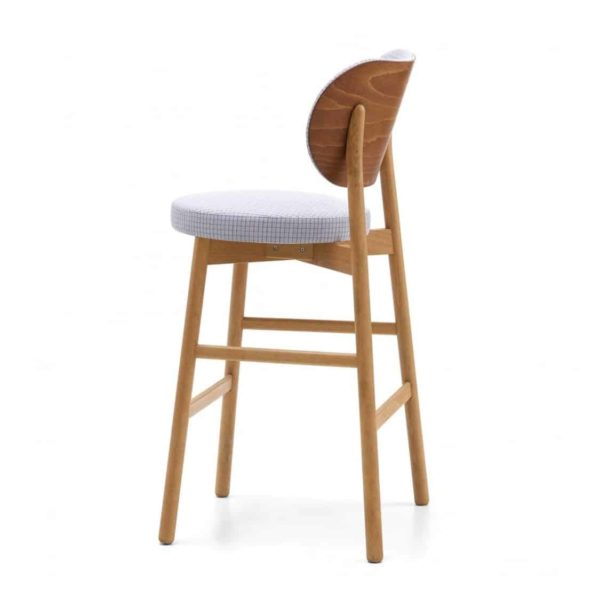 Coco Bar Stool With Curved Back DeFrae Contract Furniture Cantarutti Left Side