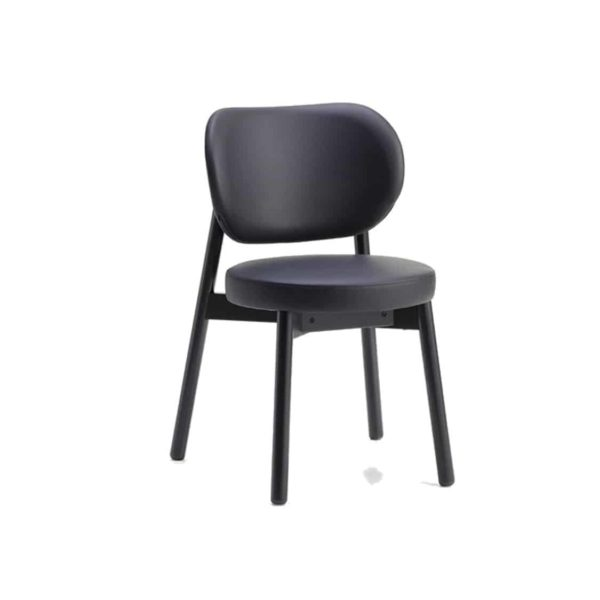 Coco Side Chair With Curved Back DeFrae Contract Furniture Cantarutti Black