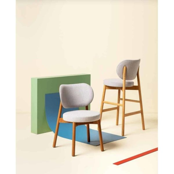 Coco Side Chair and Bar Stool With Curved Back DeFrae Contract Furniture Cantarutti