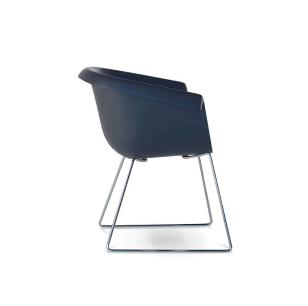 Collier armchair sled base blue