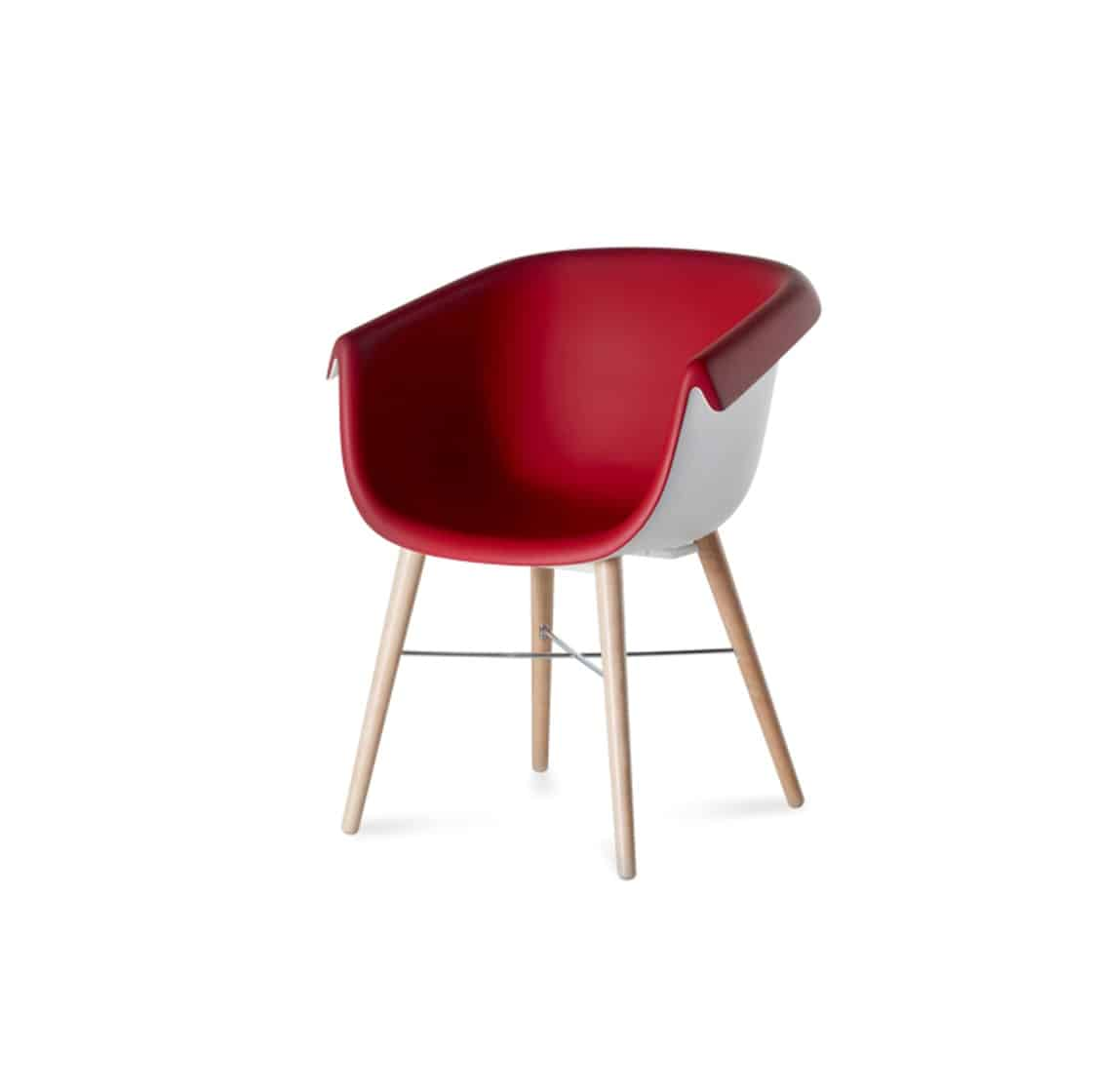 Collier two tone armchair DeFrae Contract Furniture red and white