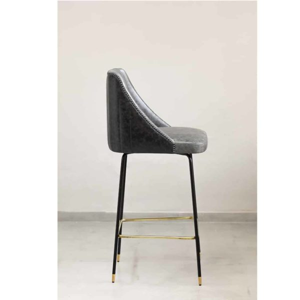 Compton Bar Stool available from DeFrae Contract Furniture Soho B Fluted Back Side