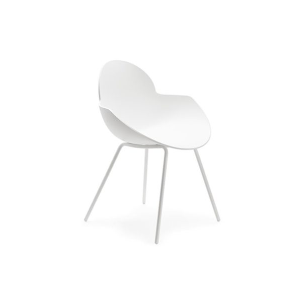 Cookie armchair with metal legs DeFrae Contract Furniture white