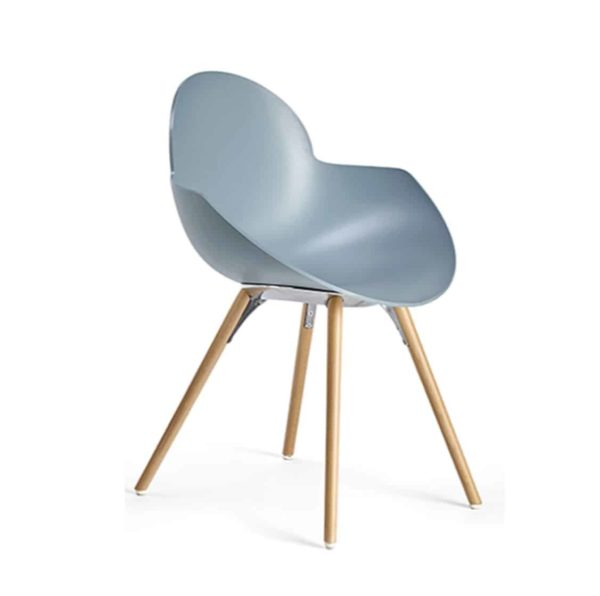 Cookie armchair with wooden legs DeFrae Contract Furniture