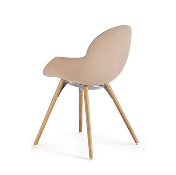 Cookie armchair with wooden legs DeFrae Contract Furniture baby pink