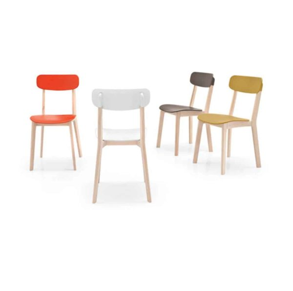 Cream side Chair Calligaris available from DeFrae Contract Furniture Colours 2