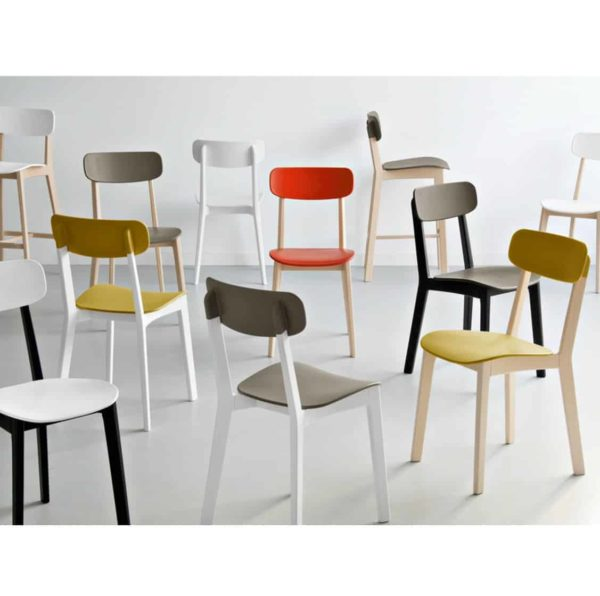 Cream side Chair Calligaris available from DeFrae Contract Furniture Colours