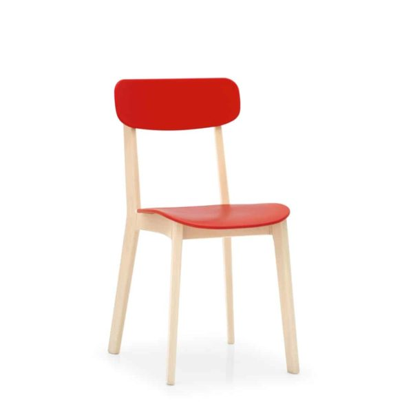 Cream side Chair Calligaris available from DeFrae Contract Furniture Red