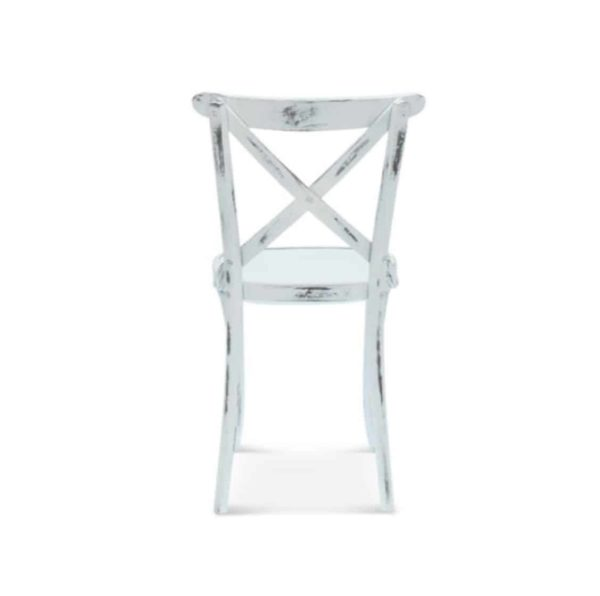 Cruz cross back bentwood side chair 8810 DeFrae Contract Furniture Back View