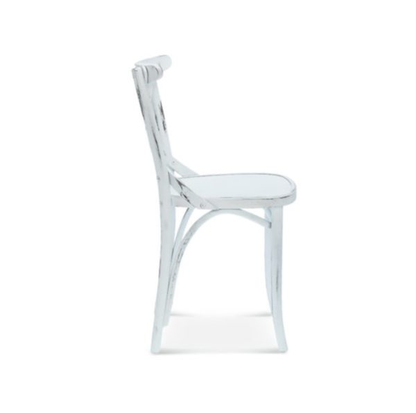 Cruz cross back bentwood side chair 8810 DeFrae Contract Furniture Side View