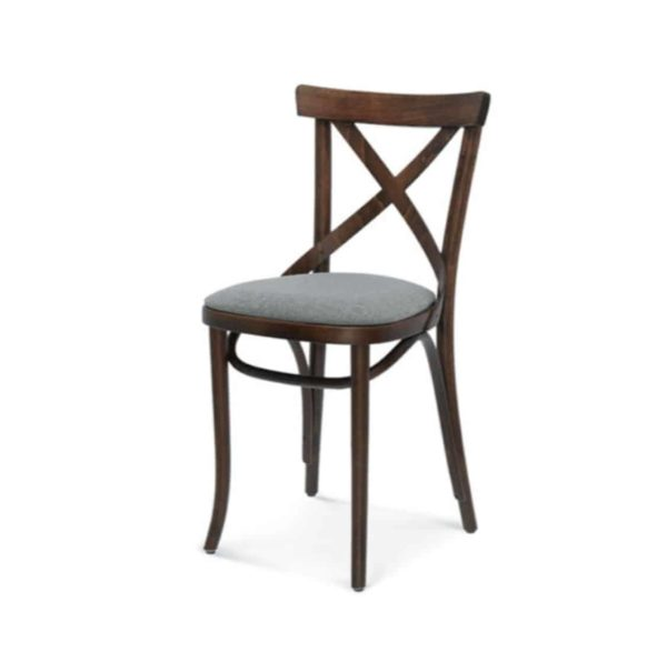 Cruz cross back bentwood side chair 8810 DeFrae Contract Furniture Upholstered Seat
