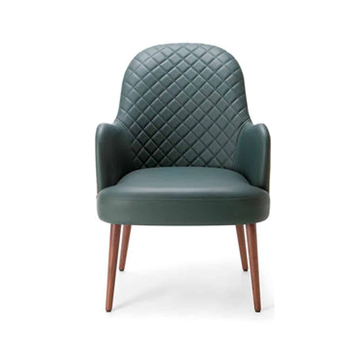 Da Vinci Armchair 04 100 DeFrae Contract Furniture Quilted Back