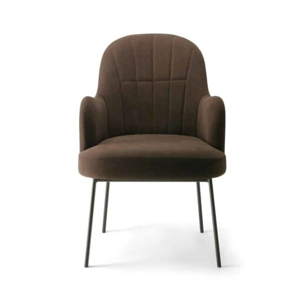 Da Vinci Armchair 04 113 Metal Legs DeFrae Contract Furniture Fulted Pleated Back