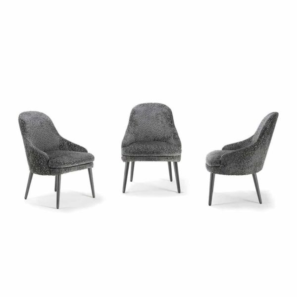 Da Vinci Armchair 06 100 Metal Legs DeFrae Contract Furniture Fluted Pleated Back