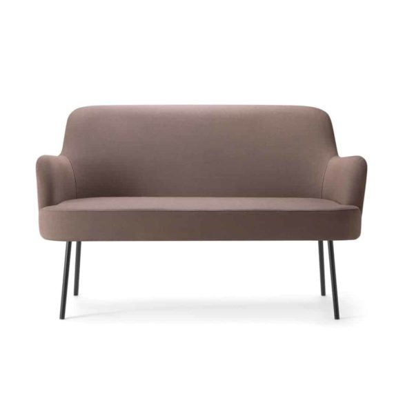 Da Vinci Sofa 09 2 Seater DeFrae Contract Furniture Metal Legs