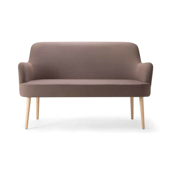 Da Vinci Sofa 09 2 Seater DeFrae Contract Furniture Wooden Legs