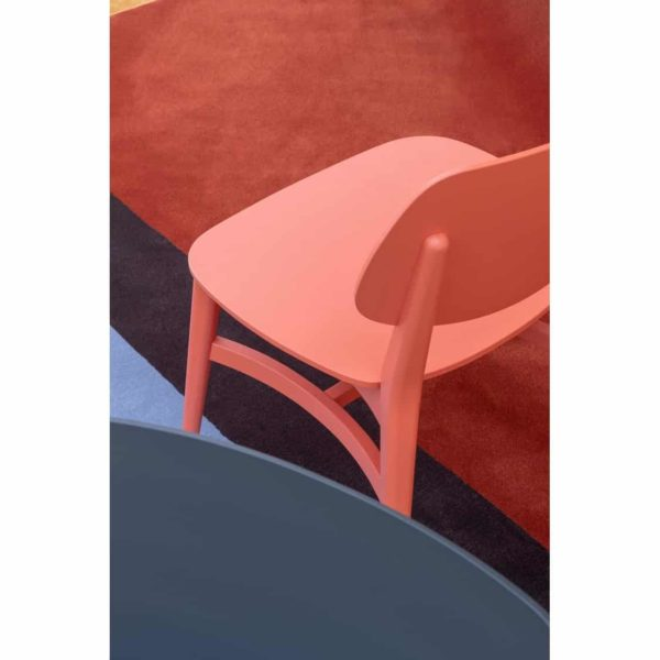 Doll wood side chair 060 Billiani DeFrae Contract Furniture Ash 060 Pink