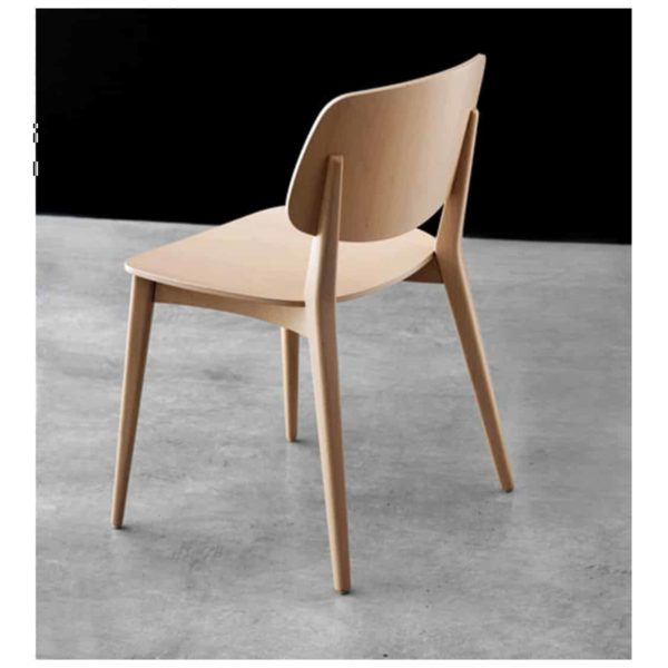 Doll wood side chair 060 Billiani DeFrae Contract Furniture Back