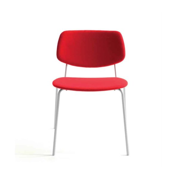 Doll steel side chair 060 Billiani DeFrae Contract Furniture Stackable Upholstered