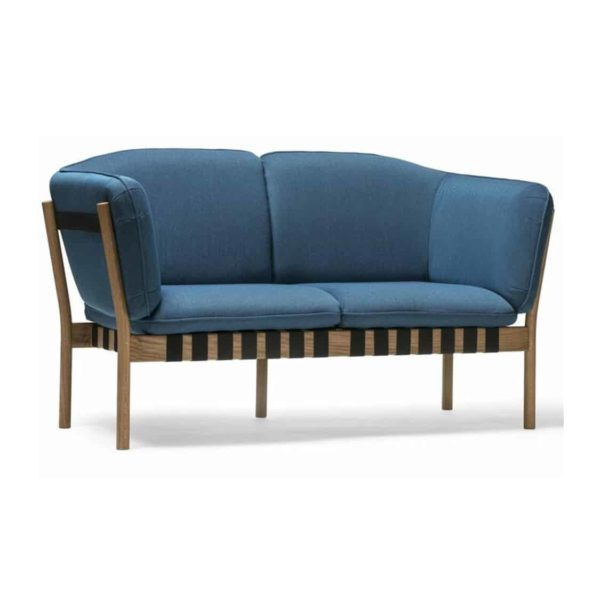 Dowel 2 seater sofa and armchair DeFrae Contract Furniture Side View