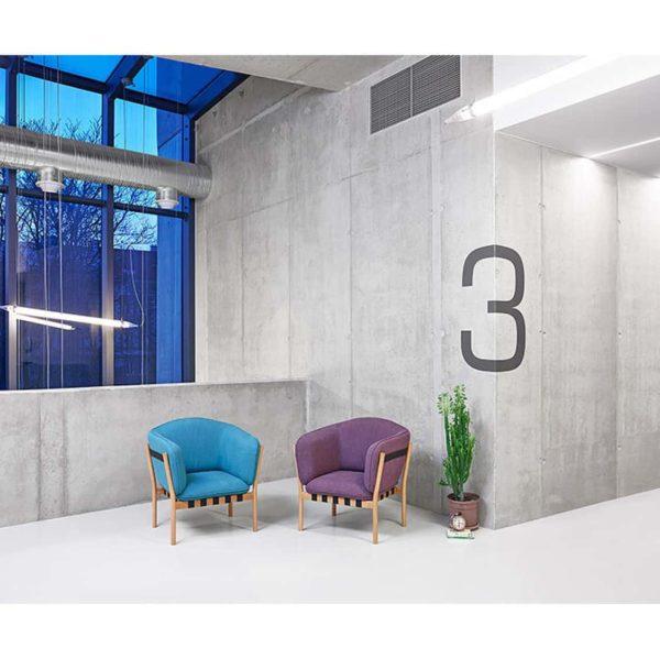Dowel armchair DeFrae Contract Furniture