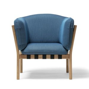 Dowel armchair DeFrae Contract Furniture Blue 2